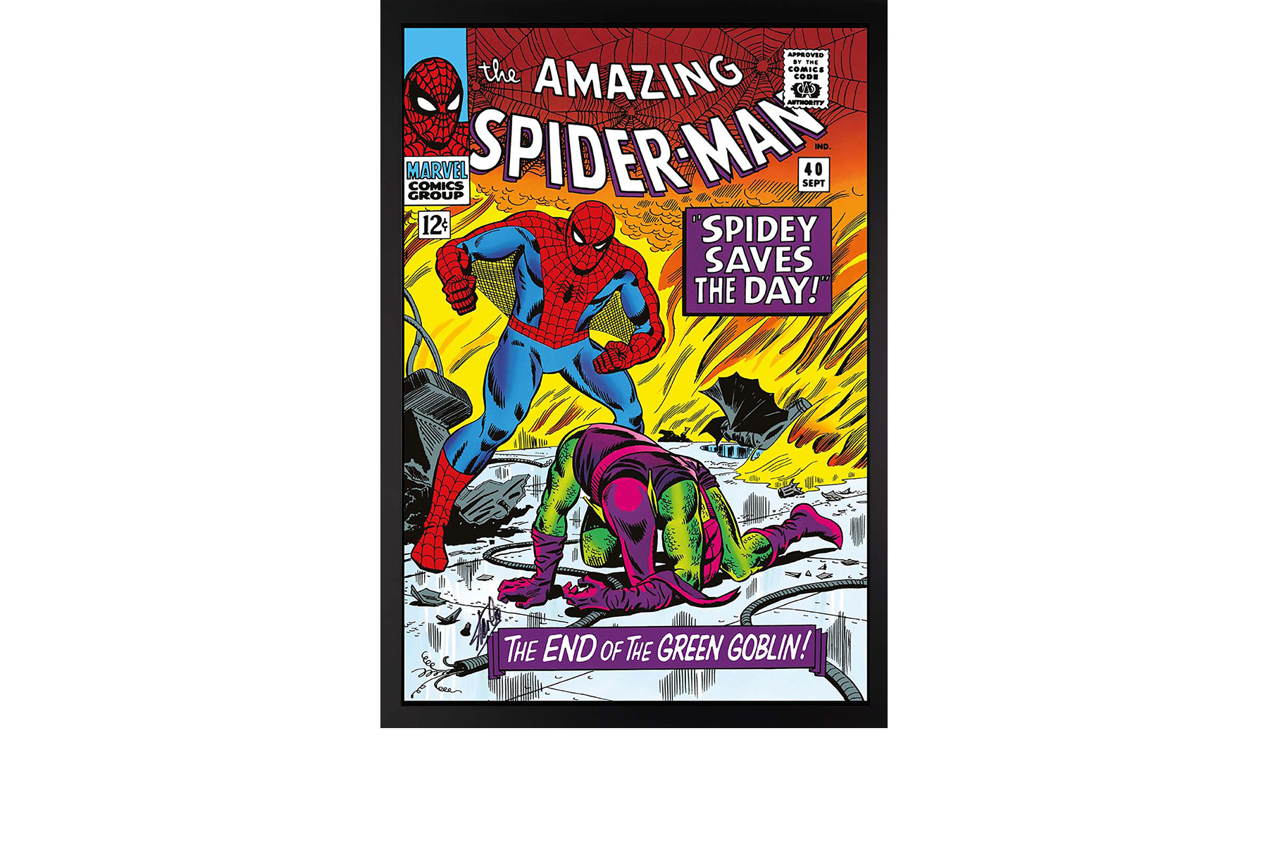 The Amazing Spider-Man: Spidey Saves The Day - signed by Stan Lee
